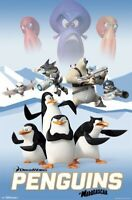 PENGUINS OF MADAGASCAR ~ FRIENDS AND FOES ~ 22x34 CARTOON MOVIE POSTER ~ NEW!