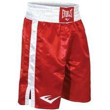 Everlast Standard Top of Knee Boxing Trunks - Xl - Red/White