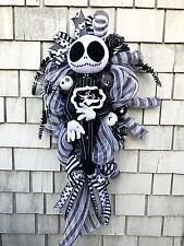 Nightmare Before Christmas Jack Skellington Wreath XXL 4 FT Zero the Ghost Dog