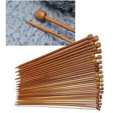 Hpt 36Pcs 18sizes Single Pointed Carbonized Bamboo Knitting Needles Crochet Set