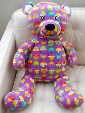 "Giant/Huge/Large Teddy Bear Plush Stuffed PURPLE Cupcakes Hearts 32"""