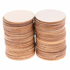 50x Discs DIY Pieces Blank Crafts Wood Natural Slice Round Unfinished Wooden