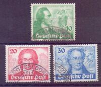 Berlin 1949 - Goethe - MiNr. 61/63 rund gestempelt - Michel 180,00 € (070)