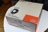 SONY CDP 101 Player komplett wie aus dem Laden in 1983 mit Garantie ! OVP !