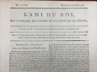 L'ami du Roi 1790 Journal Royaliste Nancy Cazales Douai Révolution Française