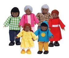 African American Wooden Doll House Family Dollhouse Figures Lot People Toy Gift