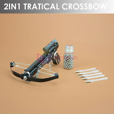 NEWEST 2IN1 Mini Pocket Handheld Crossbow Toy Made by Aviation Aluminum Alloy