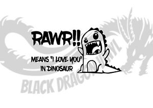Rawr Means Love You In Dinosaur Inspired Childrens Wall Art Decal Vinyl Sticker