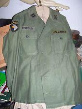 Vintage Army Uniform 101st Airborne Div  Capt Inf. Open Sleave
