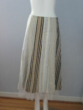 SPANNER Size 6 Brown Striped Skirt