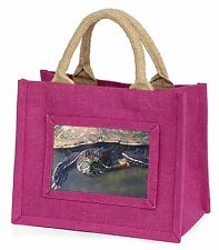 Terrapin Intrigued by Camera Little Girls Small Pink Shopping Bag Chri, AR-T1BMP