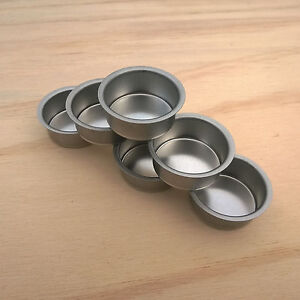 6 pack 18mm deep metal tealight/candlestick inserts for woodturners and crafters