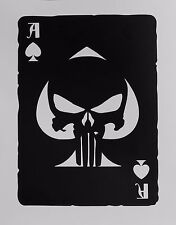 Ace of Spades Old Playing Card Punisher Skull Sticker for Car,Laptop,Motorcycle