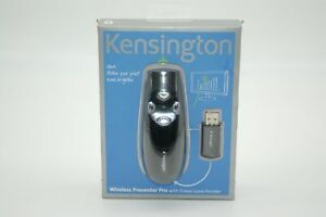 Kensington Wireless Presenter Pro with Green Laser Pointer B1039A New in Package