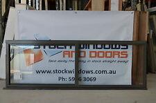 Aluminium Sliding Window 600h x 1810w Woodland Grey (Brand New)