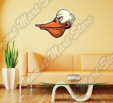 "Pelican Head Angry Bird Funny Cartoon Wall Sticker Interior Decor 25""X20"""