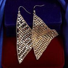 Yellow Gold Simulated Diamond Fashion Earrings