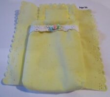 Lego Belville Cloth Pouch, Adult white lace and pink rose couette 5805 Princess