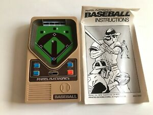 Vintage ELECTRONIC BASEBALL Handheld MATTEL GAME 1970s TESTED WORKING