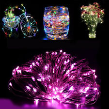 LED String Battery Silver Copper Wire Holiday Christmas Fairy Lights Xmas Party