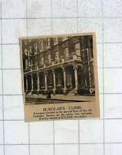 1919 Burglar Climbs To 2nd Floor Of Number 10 Cadogan Square £10,000 Jewellery S