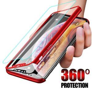 COVER per Iphone 11 / Pro Max XS XR Fronte Retro 360° PELLICOLA VETRO TEMPERATO