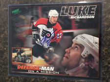 Luke Richardson Signed Philadelphia Flyers 8.5X11 Photo Card - PSA Guarantee