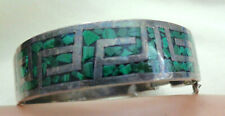 Sterling Bracelet Inlay Turquoise Jef Jeronimo Fuentes Taxco Mexico 950