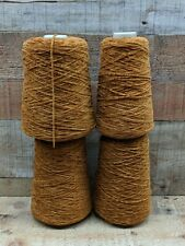 4) Cones Brandy Brown Cotton Chenille Yarn 2.96 lb 1000 Ypp Save w/Combined Ship