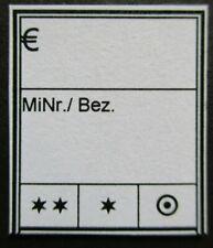 500 Stck. Preisetiketten f��r Briefmarken -weiß-