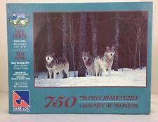SURE LOX Jigsaw Puzzle 750 Piece True North Timber Wolves Nova Scotia New 40505