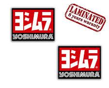 2 x AUFKLEBER STICKERS AUTO SUZUKI HONDA AUSPUFF MOTORSPORT YOSHIMURA RACING
