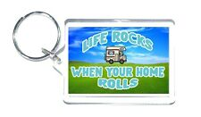 Motorhome Lovers Gift - Life Rocks When Your Home Rolls - Novelty Keyring