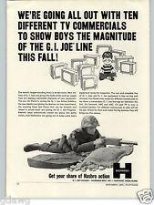 1965 PAPER AD Hasbro Toys GI Joe Action Figure Soldier TV Commercials Frogman