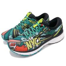 Brooks Ghost 11 New York Marathon Black Green Pop Art Men Running Shoe 110288 1D