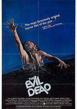 The Evil Dead - Sam Raimi - Bruce Campbell - A4 Laminated Mini Movie Poster