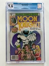 MOON KNIGHT #1 NM 9.6 CGC RARE NEWSTAND EDITION WHITE PAGES SIENKIEWICZ MCU 👀