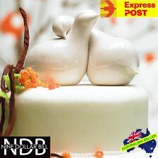 Romantic PORCELAIN Contemporary Love Birds Cake Topper Doves Wedding FASTPOST