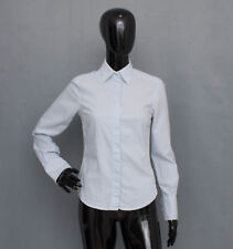 GANT Blue/White Fitted Cotton Blouse Shirt Top UK 8