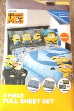 New Despicable Me 3 4 Piece Full Sheet Set *Free Shipping*