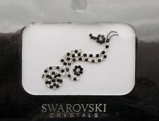 Bindi bijoux de peau mariage front strass cristal Swarovski noir ING D  3680