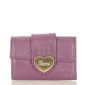 Gucci Guccishima 203551 Purple Razor Key Case Women 'S Secondhand