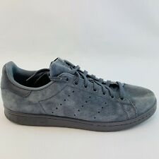 Adidas Stan Smith Grey Blue Suede US Men Size 11 BZ0452 Shoes Sneakers Athletic