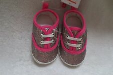Carter's Baby Girl Sneaker Pink Glitter Style Crib Shoes Size 3-6  Months New