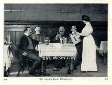 Die deutschen Biere Lichtenhainer Ausschank Zeitschriften- Bilddokument von 1909