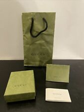 Authentic GUCCI Empty Green Wallet Gift Box 5x4x1.5 w/ Paper Shopping Bag