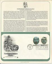 # 1834-1837 NORTHWEST INDIAN MASKS 1980 ArtCraft First Day Covers