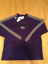 BALTIMORE RAVENS sweatshirt FLEECE CREW NECK purple NFL APPAREL XL NWT