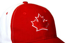 CANADA HAT RED WHITE GOLF HOCKEY CANADIAN BEACH CAP