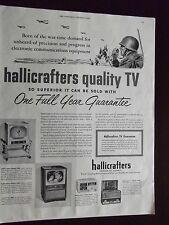 1952 Hallicrafters Quality TV Television Advertisement